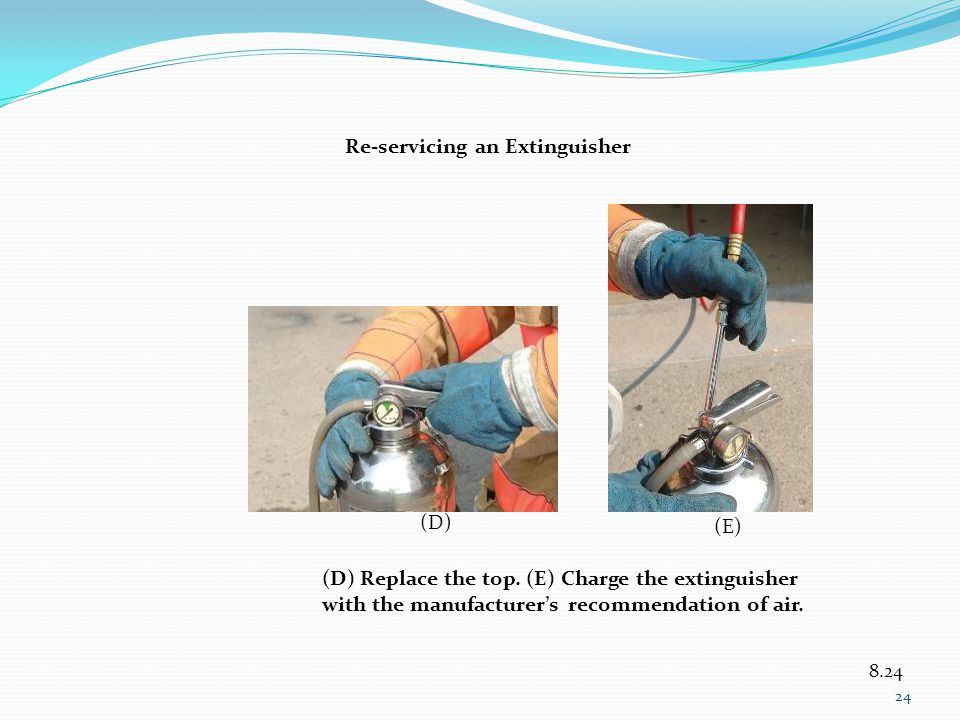 Re-servicing an Extinguisher