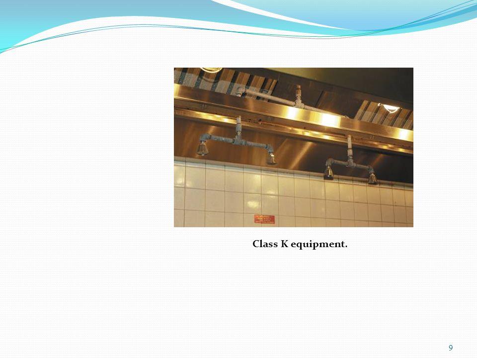 Class K equipment.