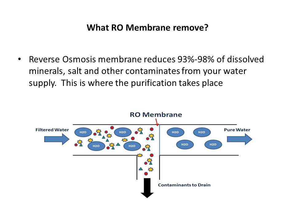 What RO Membrane remove