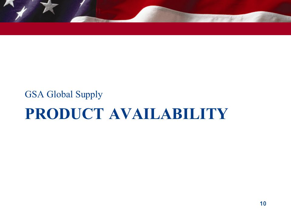 GSA Global Supply Product Availability