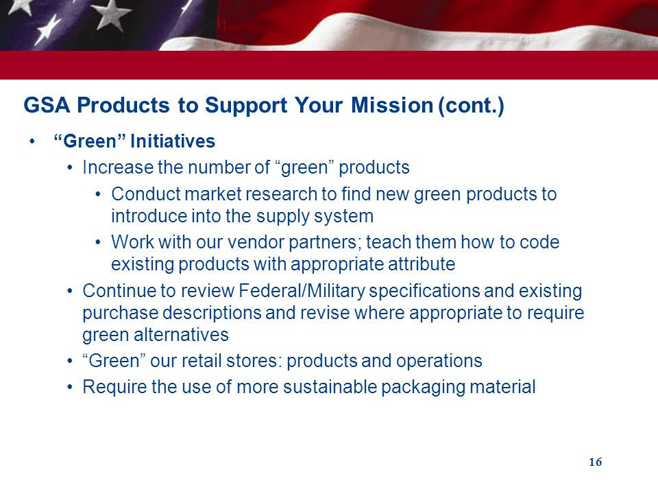 GSA Products to Support Your Mission (cont.)