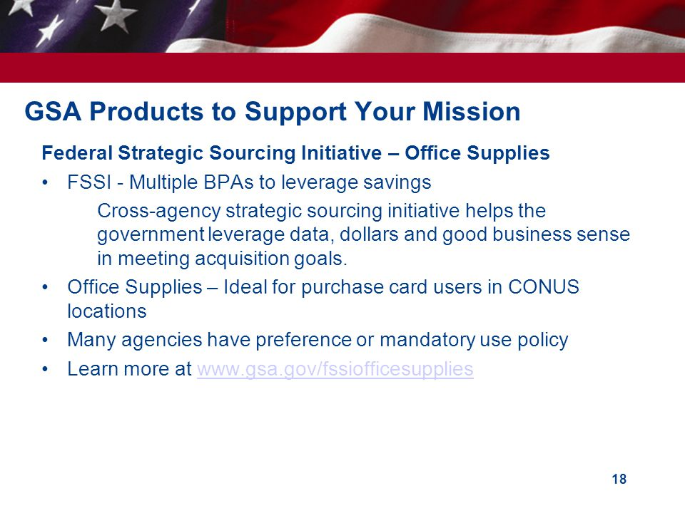 GSA Products to Support Your Mission