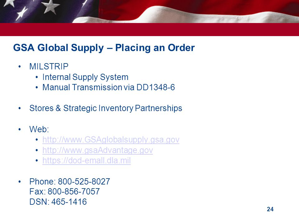 GSA Global Supply – Placing an Order