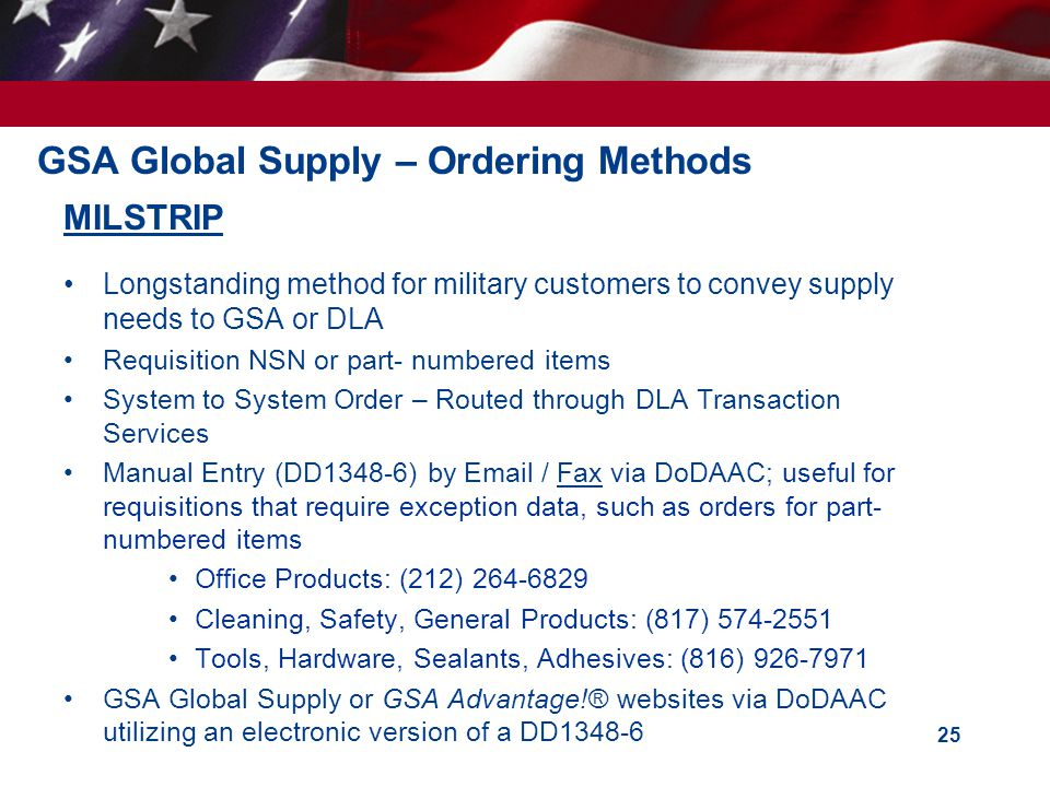 GSA Global Supply – Ordering Methods