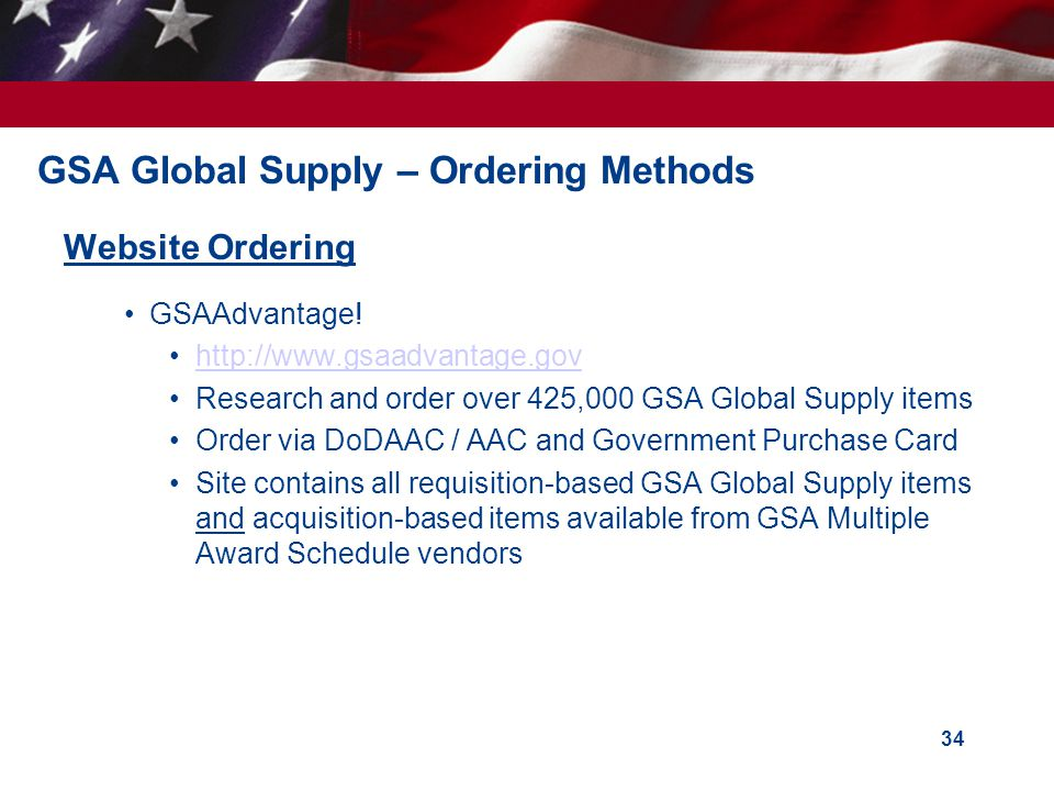 GSA Global Supply – Ordering Methods