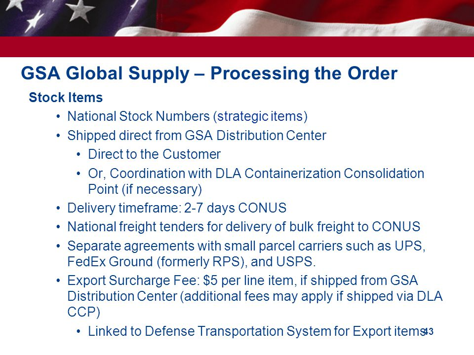 GSA Global Supply – Processing the Order