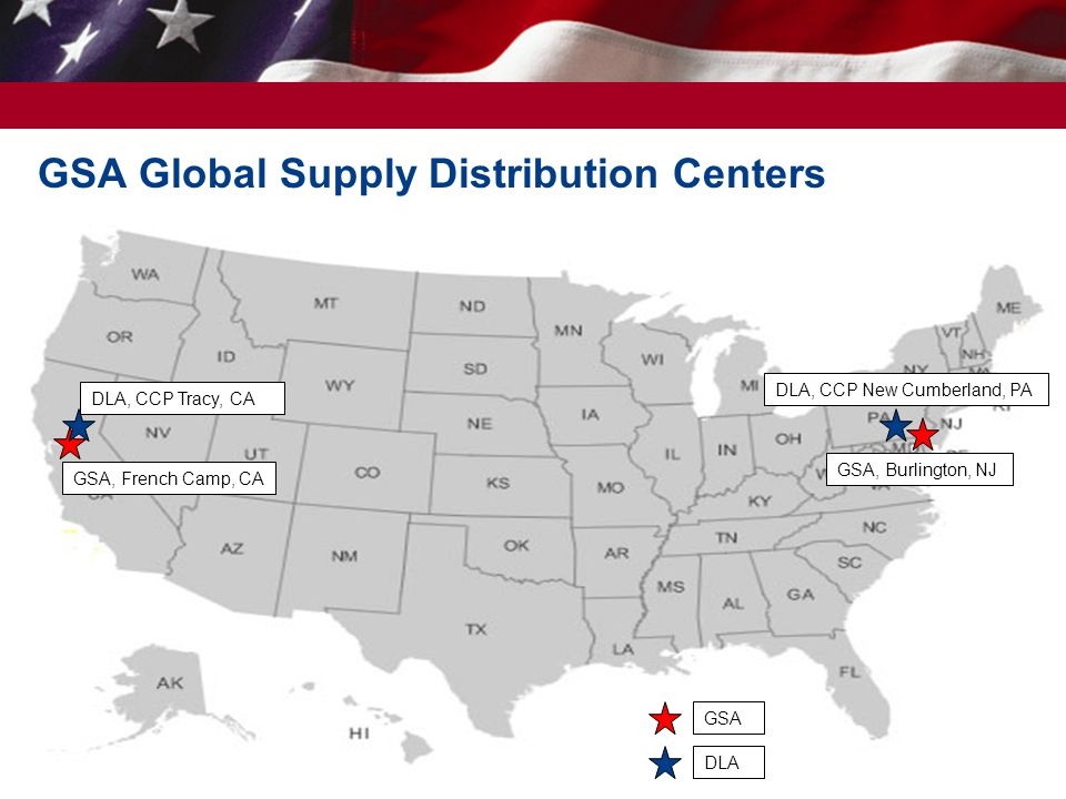 GSA Global Supply Distribution Centers