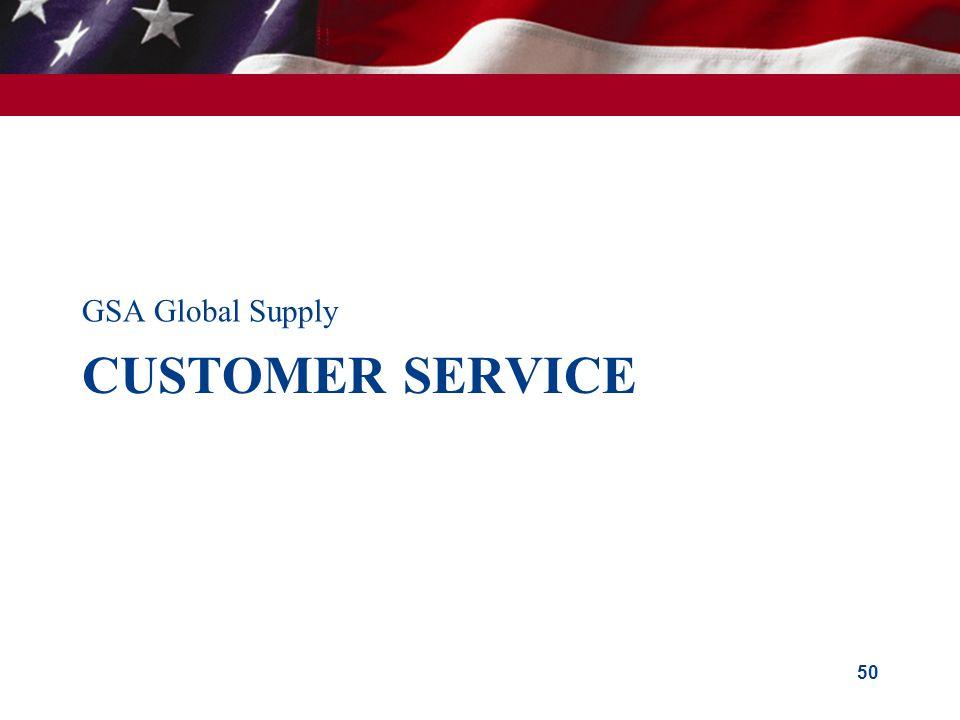 GSA Global Supply Customer service