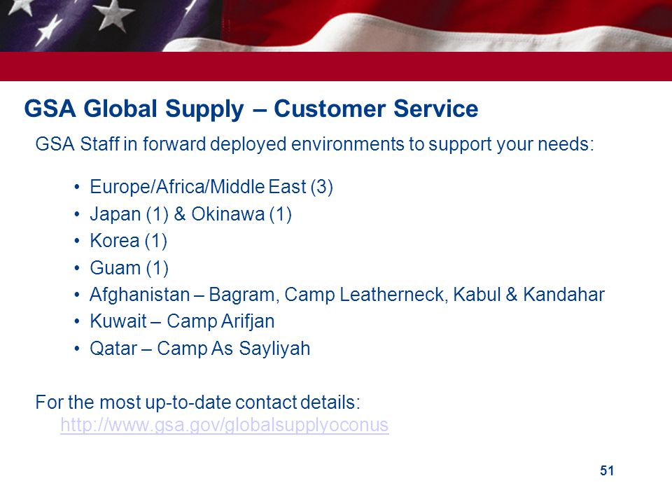 GSA Global Supply – Customer Service