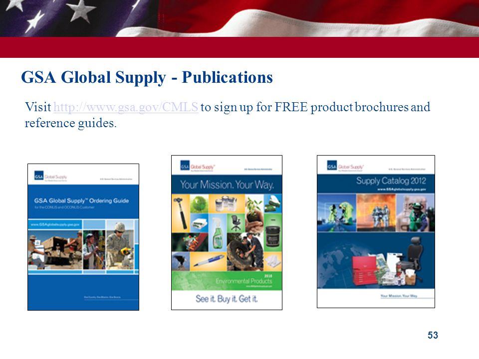 GSA Global Supply - Publications