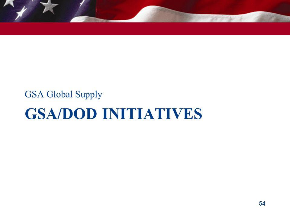 GSA Global Supply GSA/doD Initiatives
