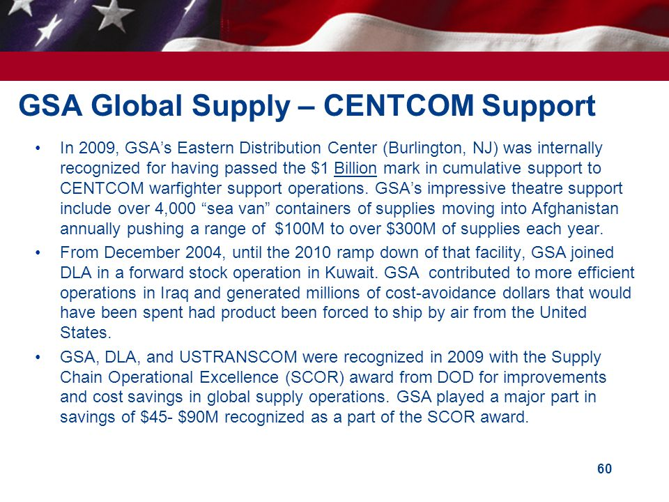 GSA Global Supply – CENTCOM Support