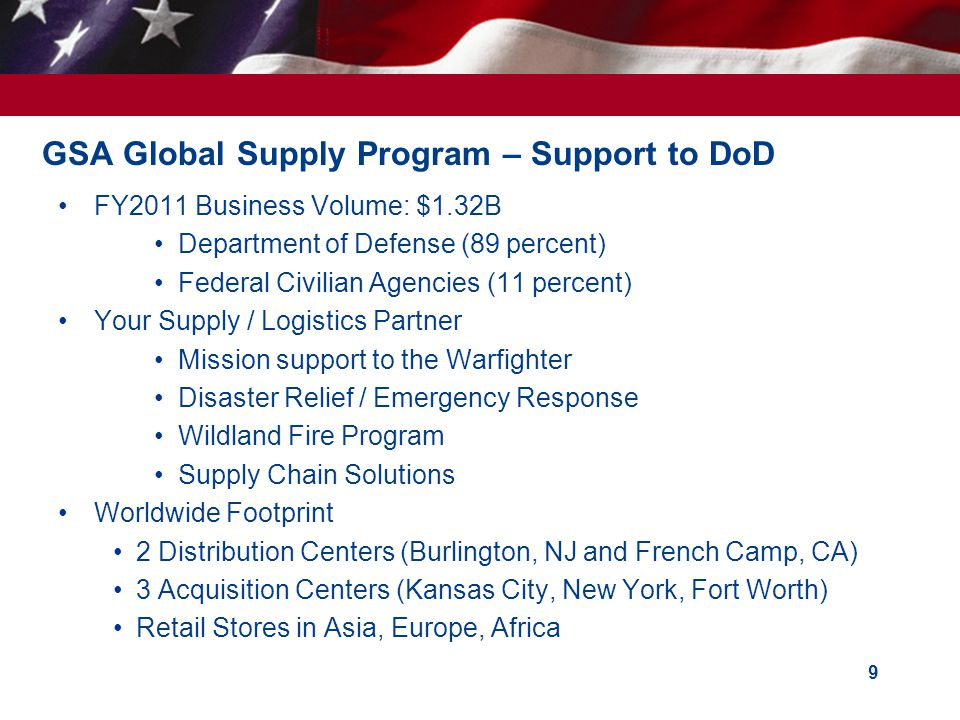GSA Global Supply Program – Support to DoD