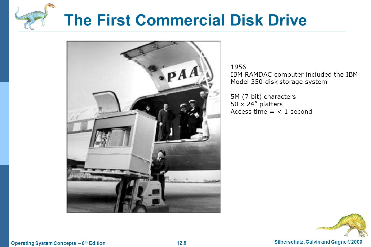 The First Commercial Disk Drive