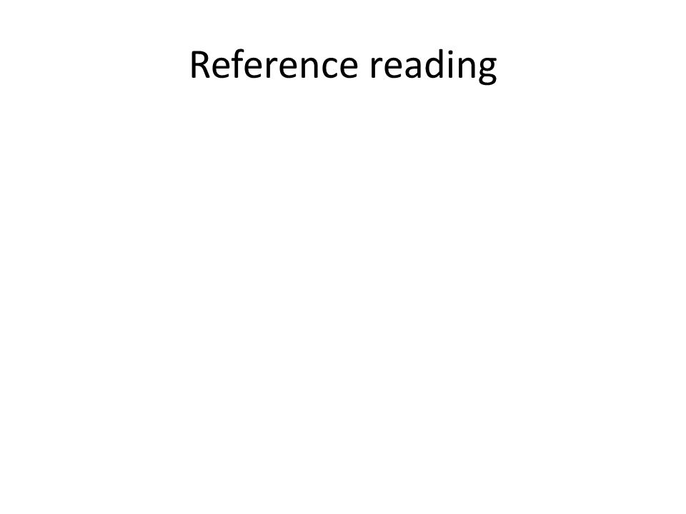 Reference reading