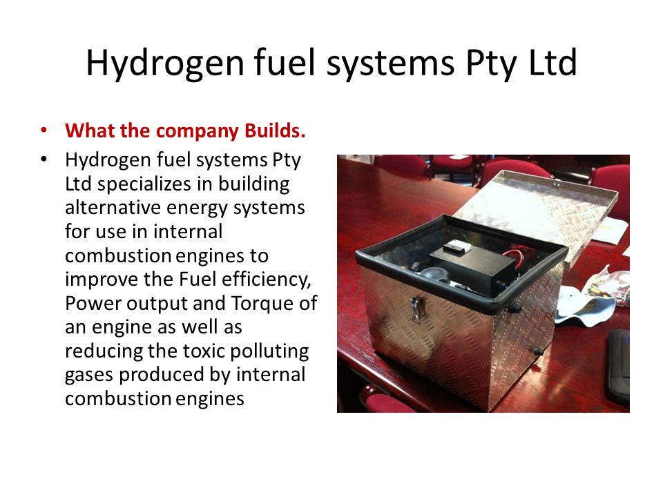 Hydrogen fuel systems Pty Ltd