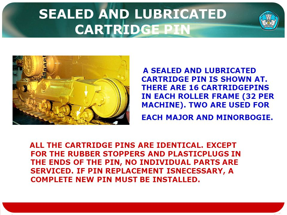 SEALED AND LUBRICATED CARTRIDGE PIN