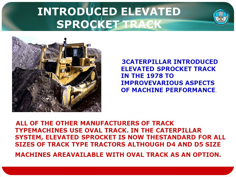 INTRODUCED ELEVATED SPROCKET TRACK