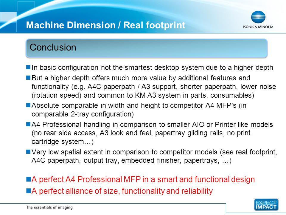 Machine Dimension / Real footprint