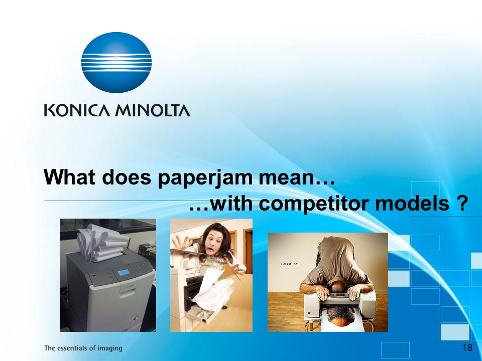 What does paperjam mean… …with competitor models