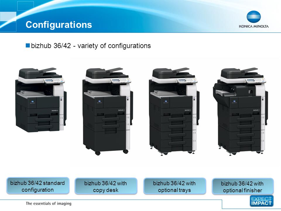 Configurations bizhub 36/42 - variety of configurations