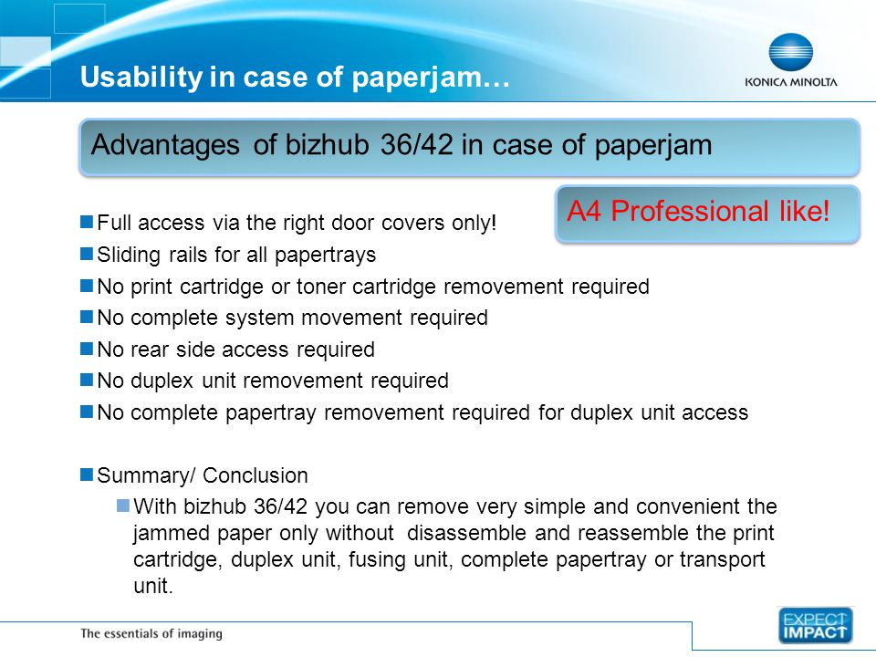 Usability in case of paperjam…