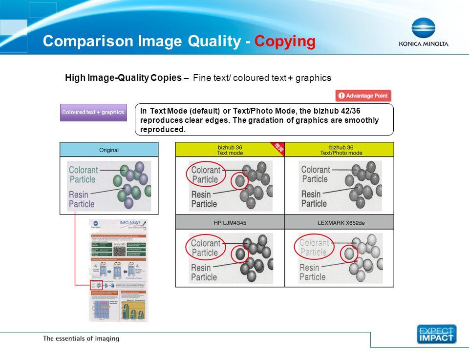 Comparison Image Quality - Copying