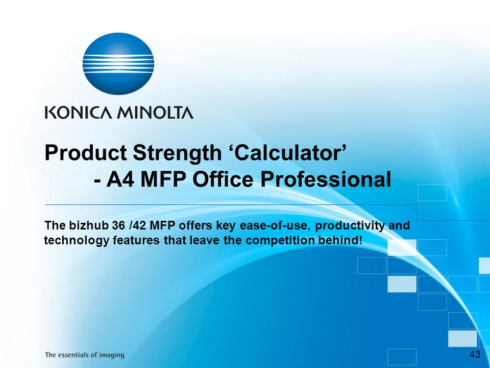 Product Strength 'Calculator'
