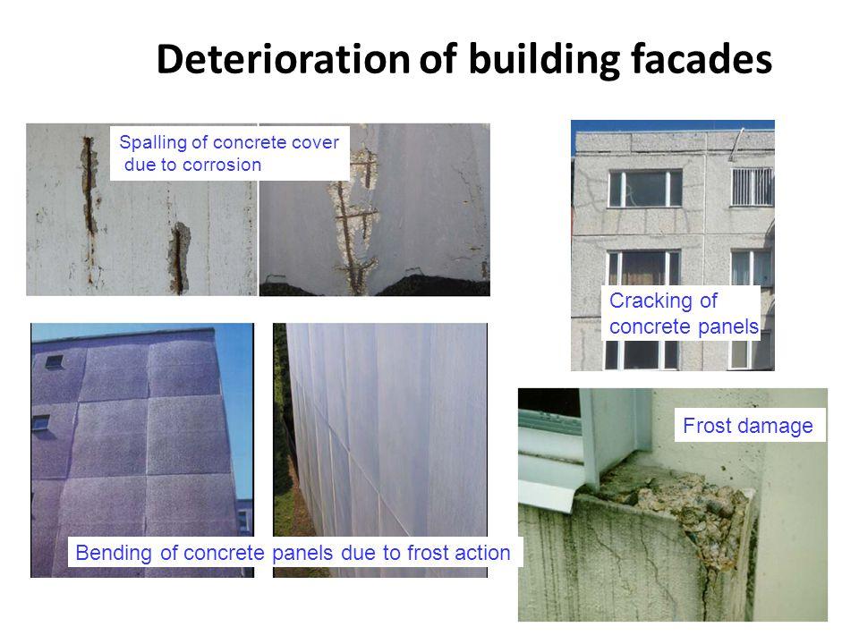 Deterioration of building facades