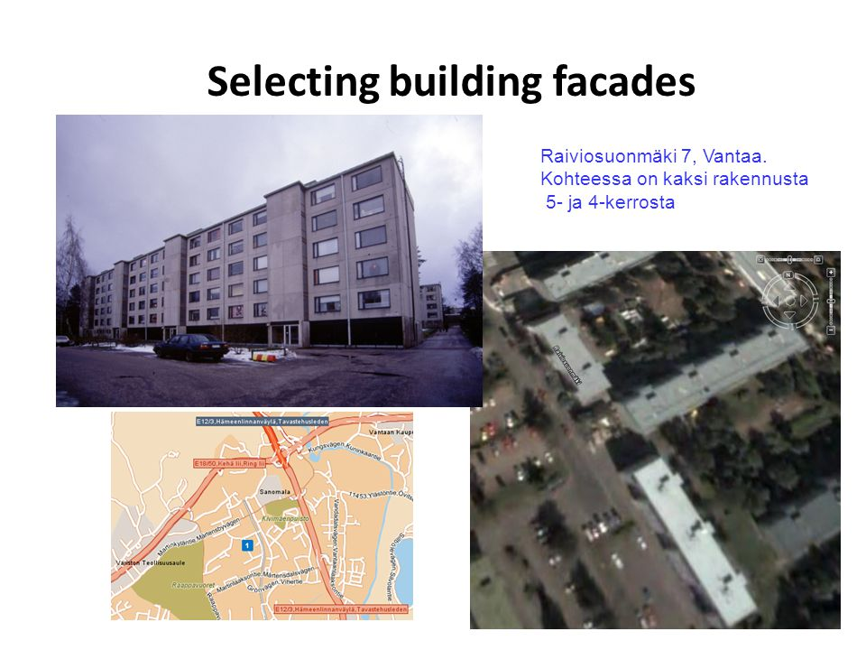 Selecting building facades