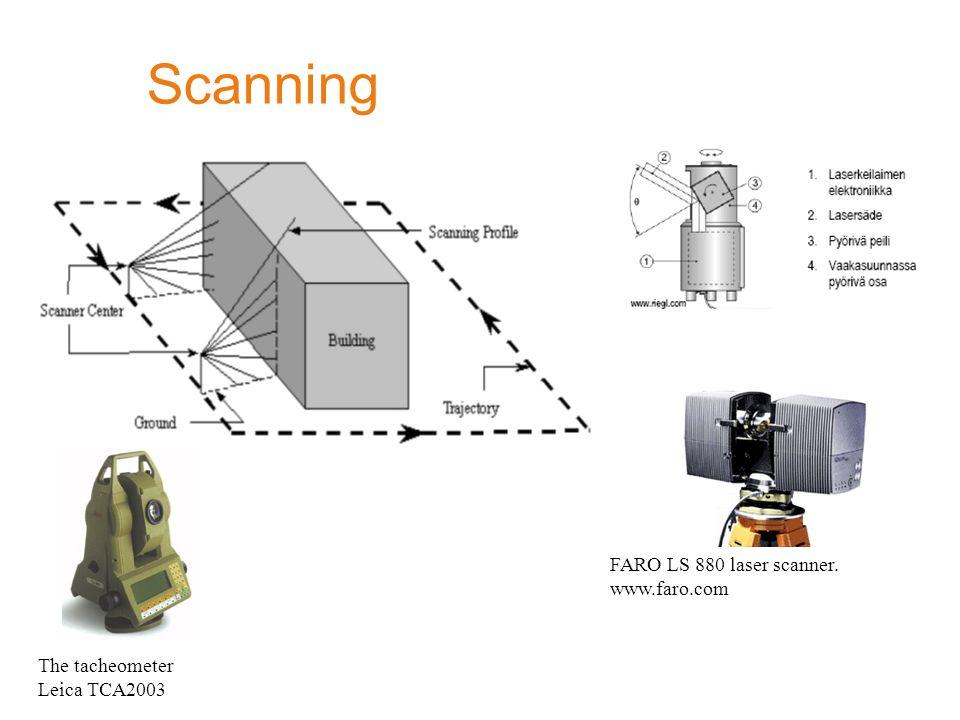 Scanning FARO LS 880 laser scanner. www.faro.com