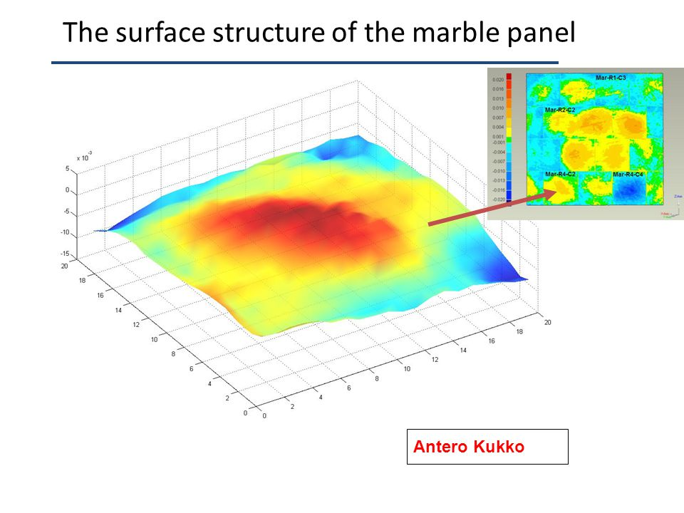 The surface structure of the marble panel