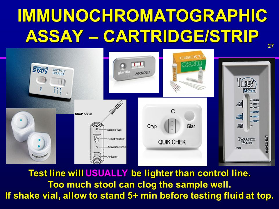 IMMUNOCHROMATOGRAPHIC ASSAY – CARTRIDGE/STRIP