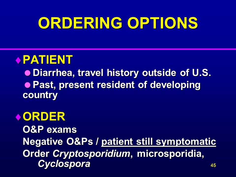 ORDERING OPTIONS PATIENT ORDER