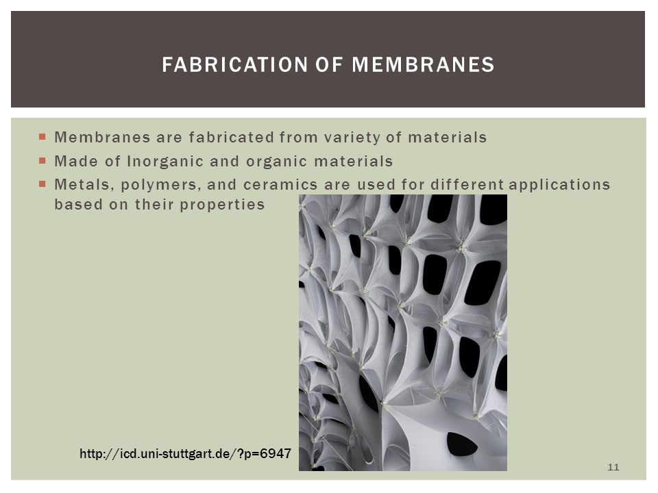 Fabrication of Membranes