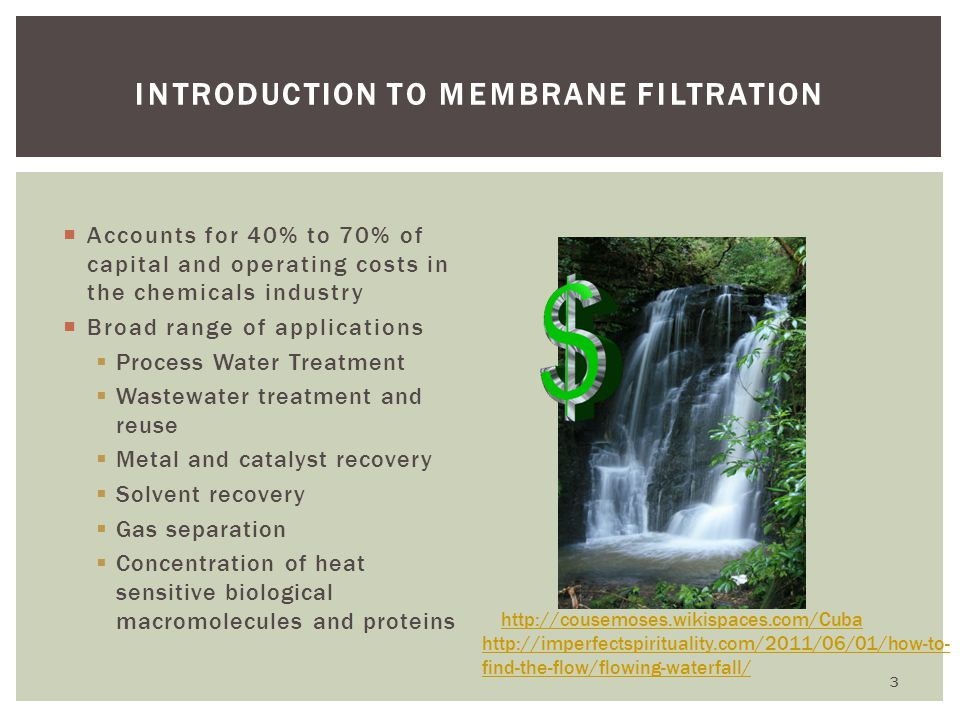 Introduction to Membrane Filtration