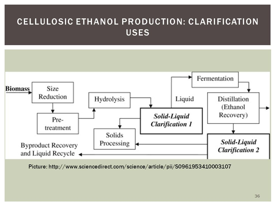 Cellulosic Ethanol Production: Clarification Uses