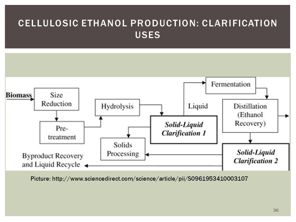 Cellulosic Ethanol Production: Clarification Uses