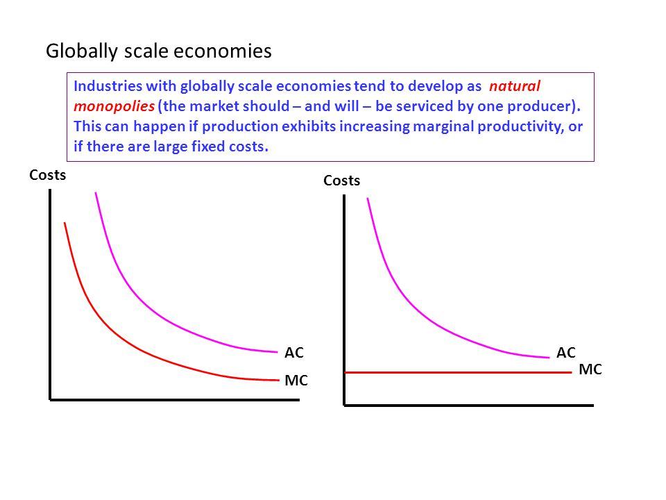 Globally scale economies