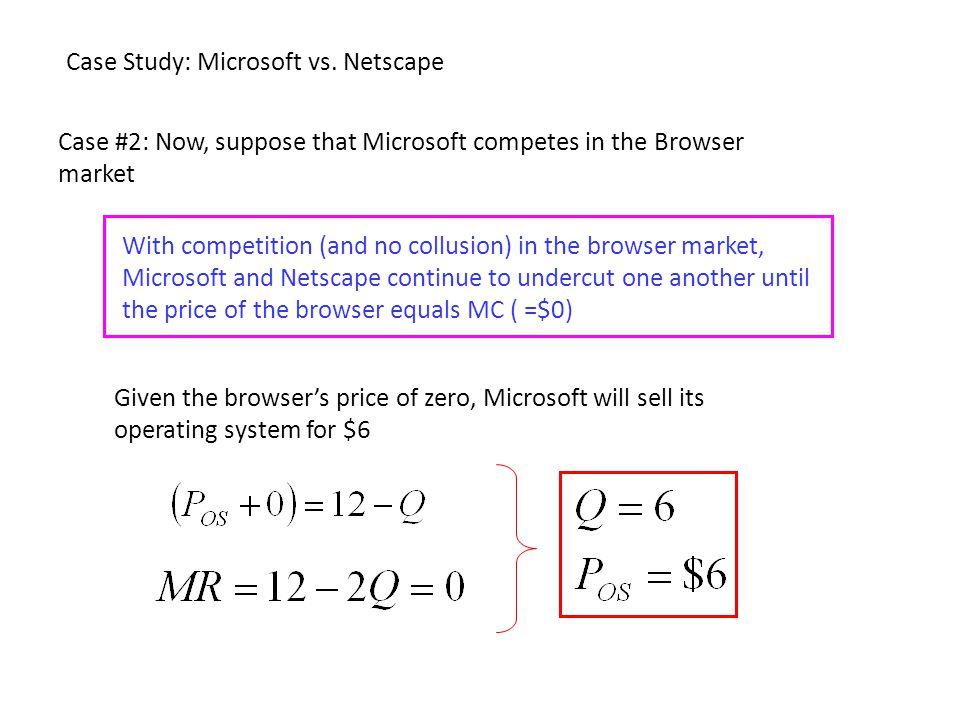 Case Study: Microsoft vs. Netscape