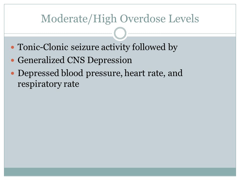 Moderate/High Overdose Levels