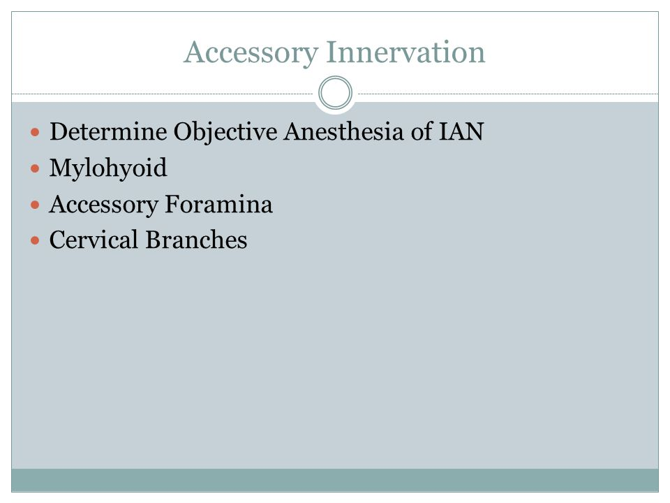 Accessory Innervation