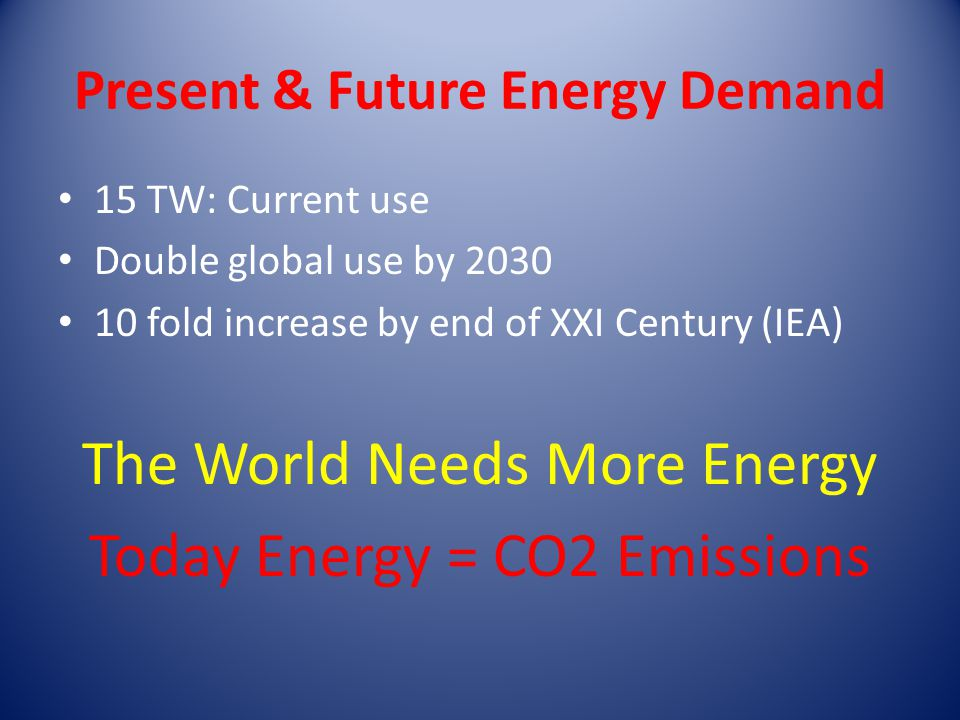 Present & Future Energy Demand