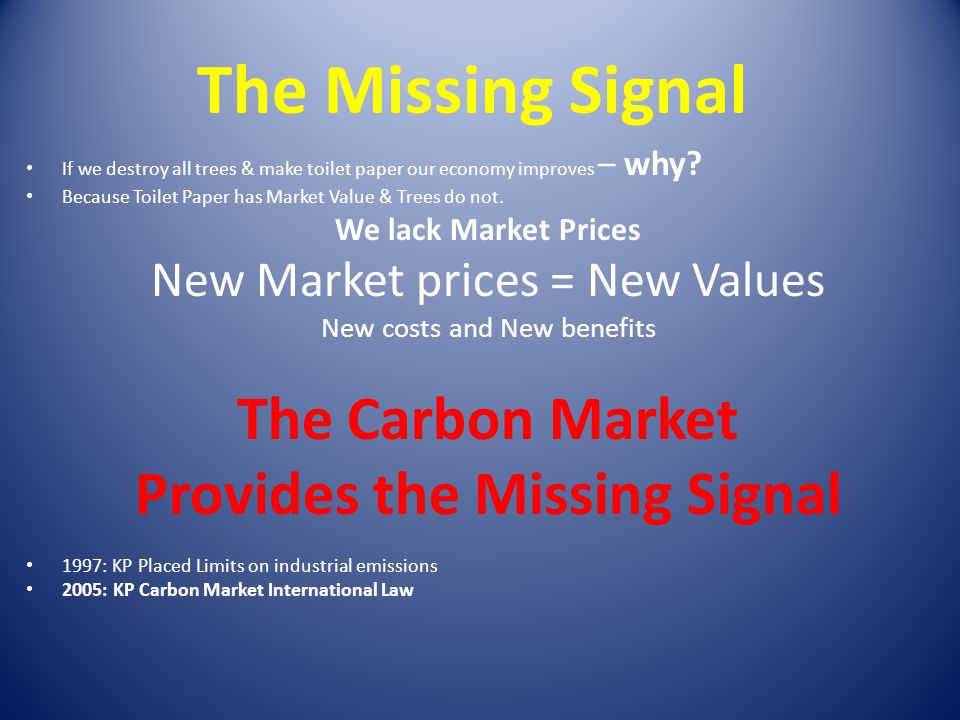 Provides the Missing Signal