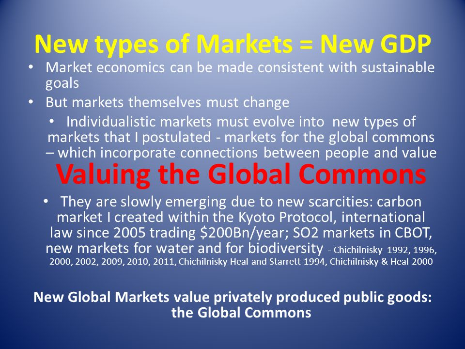 New types of Markets = New GDP
