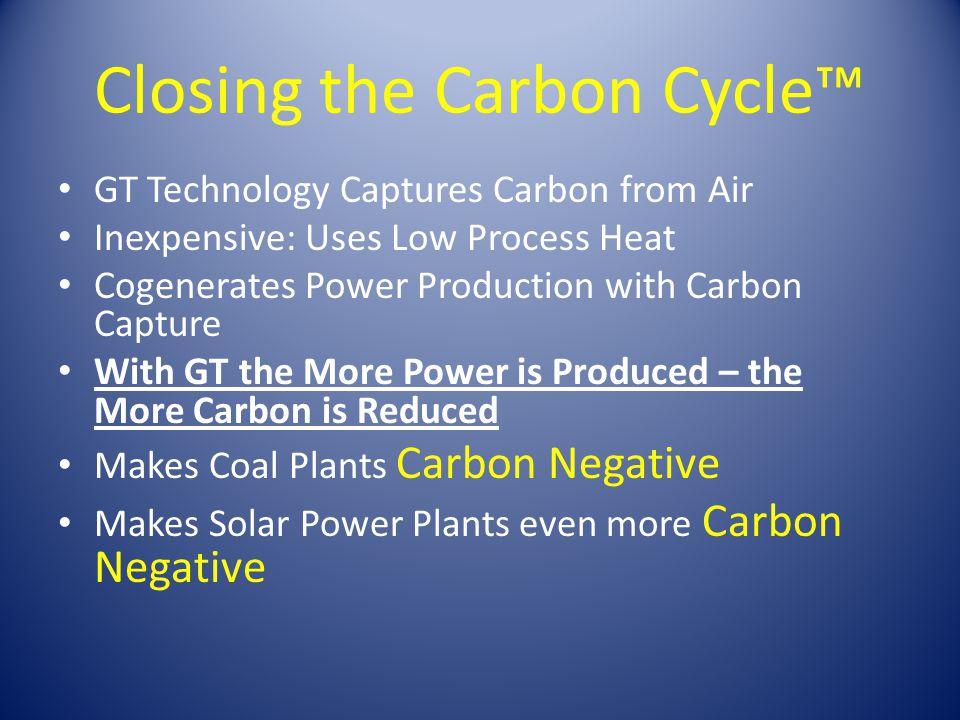 Closing the Carbon Cycle™