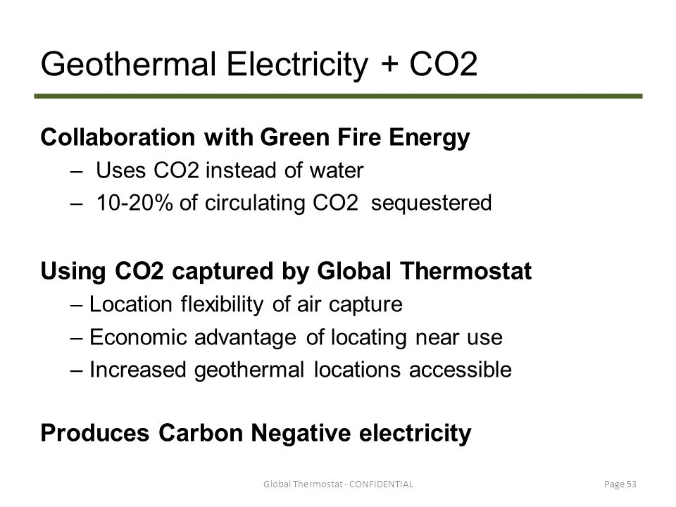 Geothermal Electricity + CO2
