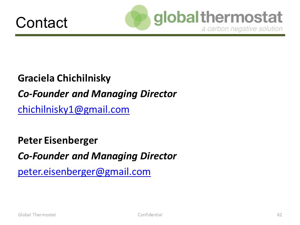Contact Graciela Chichilnisky Co-Founder and Managing Director