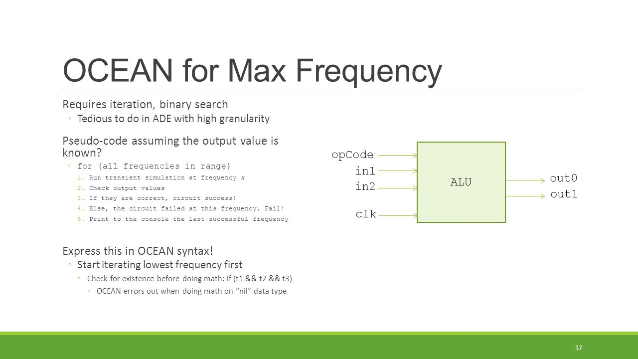 OCEAN for Max Frequency