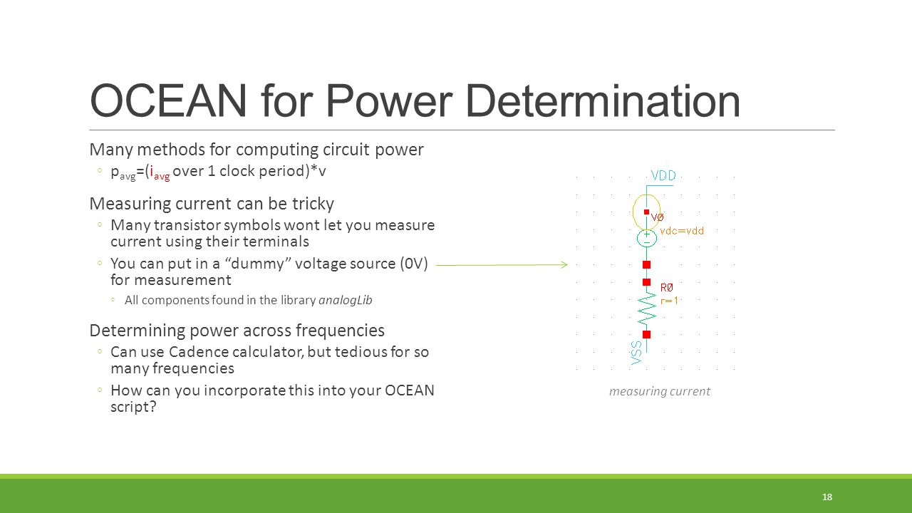OCEAN for Power Determination